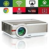 EUG 5000Lumen Android LED LCD Projecteur WXGA 1080p WiFi Home Cinéma Proyectors sans...