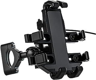 Garneck Suporte de celular para bicicleta com guidão e suporte de telefone antivibração e estável com rotação de 360° para...