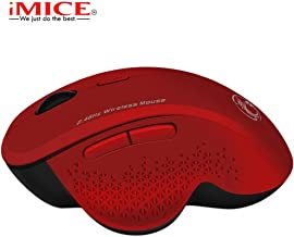 Dolloress Cute Hamster Creative Design Mice Portable Mini Mouse 2.4Ghz Wireless 1203DPI Silent Computer Office Portable Slim Optical Mouse Laptop PC Ergonomic Design Wireless Mouse Less Noise