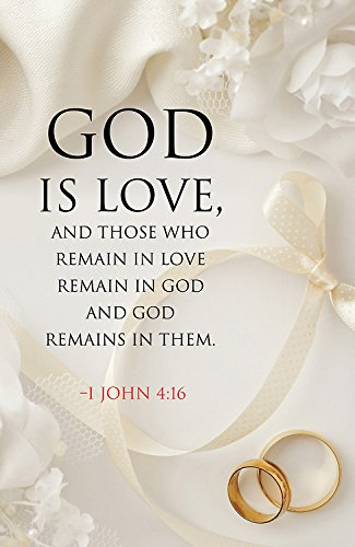 God Is Love Wedding Bulletin (Pkg of 50)