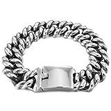 MunkiMix Edelstahl Link Armband Handgelenk Silber Tone( Gewicht : 102g ) Herren