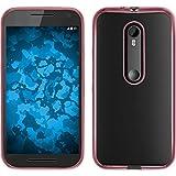 PhoneNatic Hülle für Motorola Moto G 2015 3. Generation Hülle Silikon pink Slim Fit Cover Moto G 2015 3. Generation Tasche + 2 Schutzfolien
