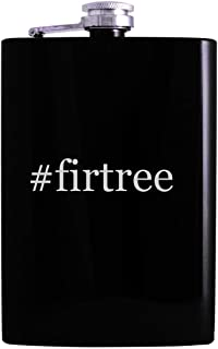 #firtree - 8oz Hashtag Hip Alcohol Drinking Flask, Black