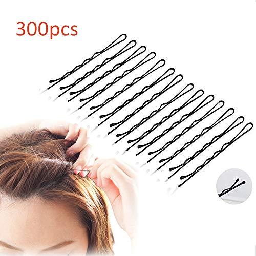 Nuluxi Pinces à Cheveux Ondulées Métal Antidérapantes Filles Noir Métal Pinces à Cheveux Ondulées Ondulées Invisible Pinces à Cheveux Idéales pour Tous Types de Cheveux et Toutes Occasions(300 Pièces)