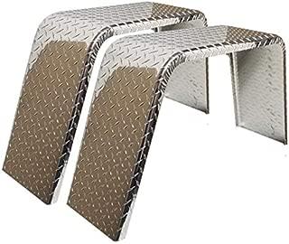 ToughGrade 2-Pack Aluminum Diamond Plate Flat Top Trailer Fender 10