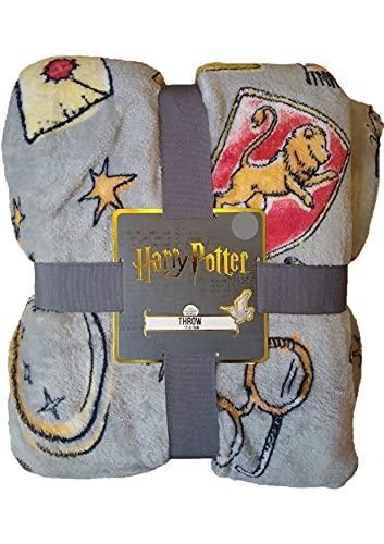 Manta de forro polar de Harry Potter, 125 cm x 150 cm, color rojo
