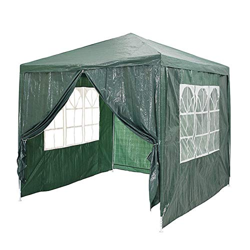 Bowose 3x3 Metres Gazebo Waterproof Heavy Duty Tent Marquee Awning Canopy 4 Side Walls 3 with Windows 1 Door with Zip Easy Assemble and Remove, Green