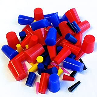 "80 Pc 1/16"" to 3/4"" High Temp Silicone Rubber Tapered Plug Kit - Powder Coating Custom Painting Supplies"