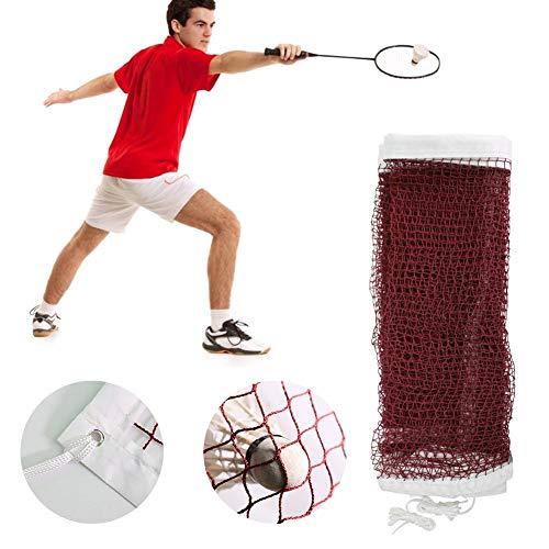 likeitwell Tragbares Badmintonnetz - Netz Für Tennis, Fußballtennis, Kinder-Volleyball - Einfache Einrichtung Nylon-Sportnetz - Für Innen- Oder Außenplätze, Strand, Auffahrt 20 FT X 2,5 FT