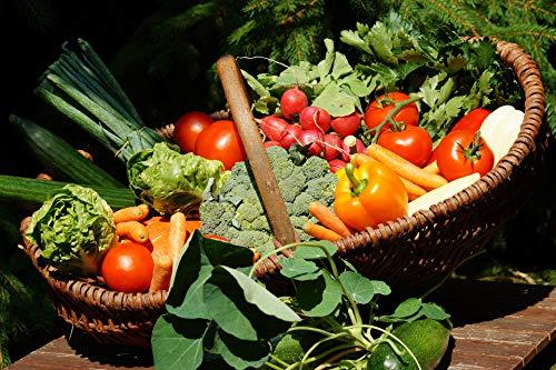 Gemüsekorb frisches gemischtes Gemüse mit Kartoffeln + Salat, 5 kg Netto Gewicht