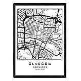 Nacnic Drucken Karte Glasgow City skandinavischen Stil in
