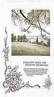 のれん 洋風 壁飾り タペストリー 間仕切り 目隠し 半間のれん アート 幅85×丈150cm ENGLAND'S GREEN 94713