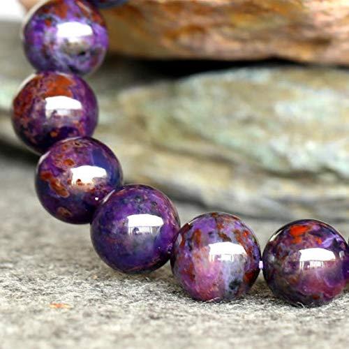 LOVEKUSH BEADS GEMSTONE 1 Strands Natural Purple Sugilite Stretch Finish Bracelet Round Big beads ????? 11.5mm 03748 Code-RR-23366