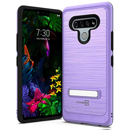 CoverON Metal Kickstand Designed for LG STYLO 6 Case, Reinforced Magnetic Stand Hybird Rugged Shockproof Phone Cover - Purple