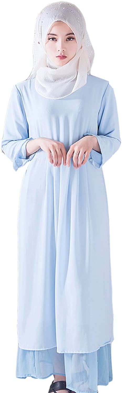 Emmani Women's Long Muslim Arab Clothing Wedding Dresses Evening Gown