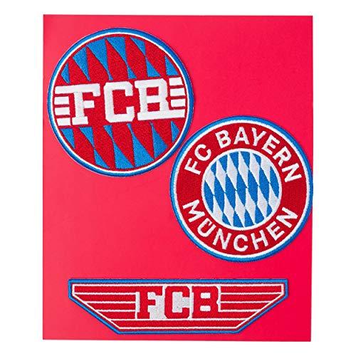 FC Bayern München Fanartikel Aufnäher 3er Set