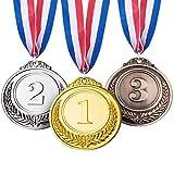 MJ-Brand Medallas de Oro de Metal para niños - Ganadores Medallas de...