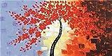 JHGJHK Planta Árbol Grande Árbol de la Vida Paisaje Abstracto Arte de la Pared Cartel escandinavo Impresión Pintura al óleo Sala de Estar Moderna Dormitorio Arte de la Pared Decoración 3