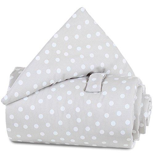 Babybay Grille protection pour lit - bébé - Pois gris perle blanc