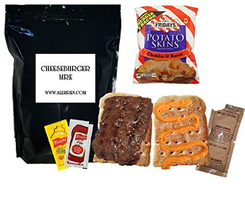 Cheeseburger MRE: FULL 'MEAL, READY TO EAT' - NEW! 1st Insp. '21 - '23 (Bacon Cheese Spread)