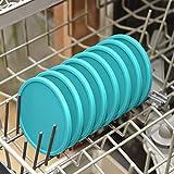 Coastee Silikon-Untersetzer - 8 Stück, türkis, Glasuntersetzer-Set für Bar, Wohnzimmer, Küche - 2