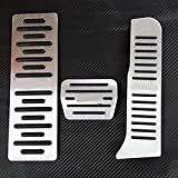 NUIOsdz AT Accesorios automáticos de aleación de Aluminio para automóviles Pedal Styling Plate Cover Stickers Pastillas de Freno para Audi A3 2004-2012 Q3 TT