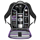 Camera Backpack with Laptop Case for Canon Nikon Sony Mirrorless and DSLR Camera, Flash Light and Other Photography Accessories - Large Capacity Black Bag with Tripod Holder by Altura Photo