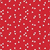 babrause® Baumwollstoff Dreiecke Rot Webware Meterware