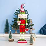 Christmas D ecor Wooden Painted Cane Soldier Doll Ornaments Christmas Toys, QHJ Christmas Decorations Sale Christmas Tree Decoration (B)