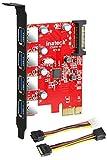 Inateck KTU3FR-4P - Tarjeta de 4 Puertos USB (PCI...