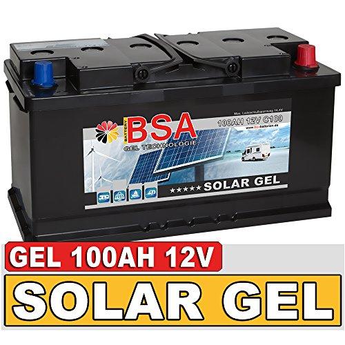 BSA Solarbatterie Gel Batterie 100Ah 12V Blei Gel Akku Boot Wohnmobil Wohnwagen Schiff Marine Batterie