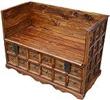 Guru-Shop Colonial Sofá Box R877, Maderadeacacia, 80x120x60