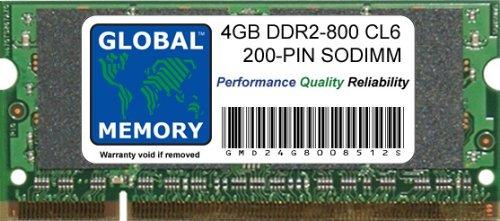 GLOBAL MEMORY 4 GB DDR2 800 MHz PC2-6400 200 Pines de Memori