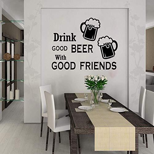 71x56cm, entfernbarer Aufkleber, trinken Sie gutes Bier mit guter Küche, die Freund-Wein-Pub-Bar-Geschäft speist Gedruckte Tapete Raum-Küche-Pasten-Obacht-Plakat-Schlafzimmer-Tätigkeit