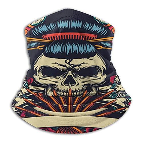 asdew987 Estilo vintage japonés tatuaje colorido metal hombres y mujeres microfibra cuello calentador polaina elástico cara media máscara tubo bufanda versatilidad bandana diadema diadema