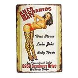 yunuo -Hot Rod Auto Metal Poster Pin Up Full Service Metal Signs Shop Garaje Decoración...