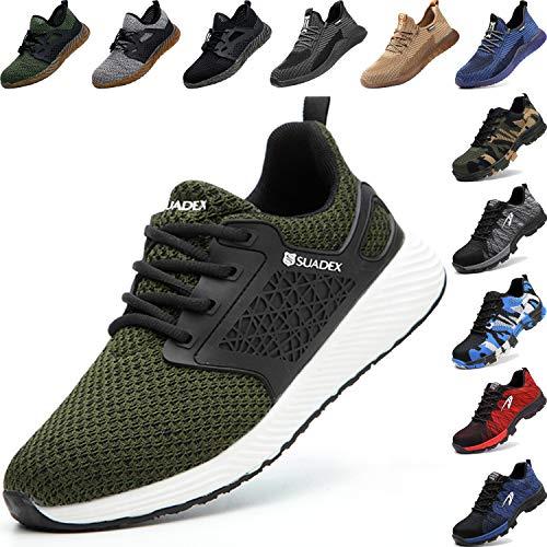 BAOLESME Herren Sportschuhe Atmungsaktiv Gym Laufschuhe Leichtgewicht Turnschuhe Freizeit Outdoor Sneaker, 04 Grün, 44 EU