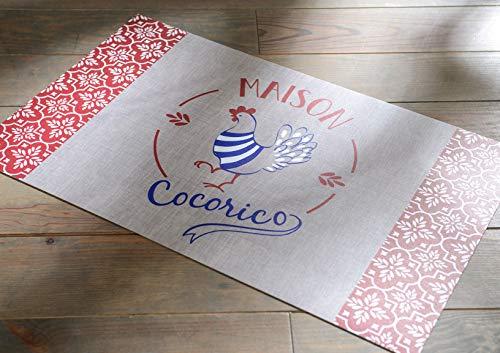 Amadeus Tapis de Cuisine en Vinyle Cocorico