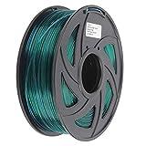 Filamento de impresión de 1,75 mm, filamento de impresora 3D de 1 kg, filamento PLA Accesorios de impresora 3D verde transparente para decoración del hogar, juguetes y regalos