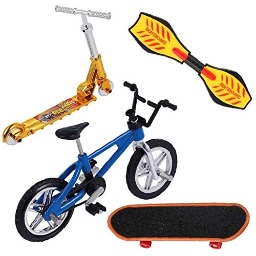 TOPofly Dedo de Bicicletas y Tablero monopatín, Finger Skateboards Bicicletas Finger Scooter oscilación Muy pequeño Mini Scooter Junta para la yema del Dedo del Partido Movimiento