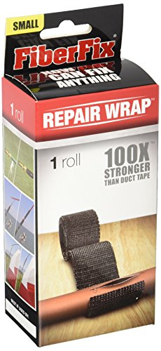FiberFix Repair Wrap - Permanent Waterproof Repair Tape 100x Stronger than Duct Tape 1' (1 Roll)