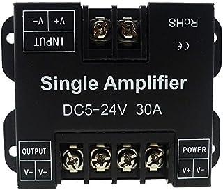 LEDENET Single Color LED Amplifier 30A Data Signal Repeater 1CH 1 Channel Dimmer Power Amplifier for White LED Strip Light...