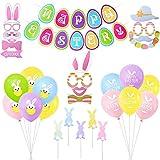 Pascua Set de Decoración, Adorno para Tarta de Conejito, Inserciones de Pastel para Niña Niño Bebé Pascua Decoración y Regalo de Pascua