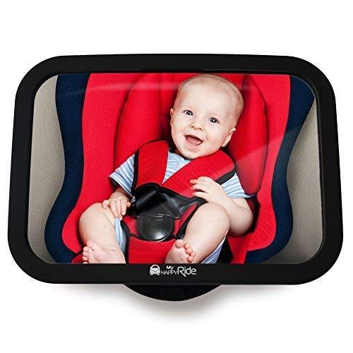 Rücksitzspiegel fürs Baby, Bruchsicherer Auto-Rückspiegel für Babyschale, Autositz-Spiegel ohne Einzelteile, für Kinder in Kinderschale, Kindersitz, B
