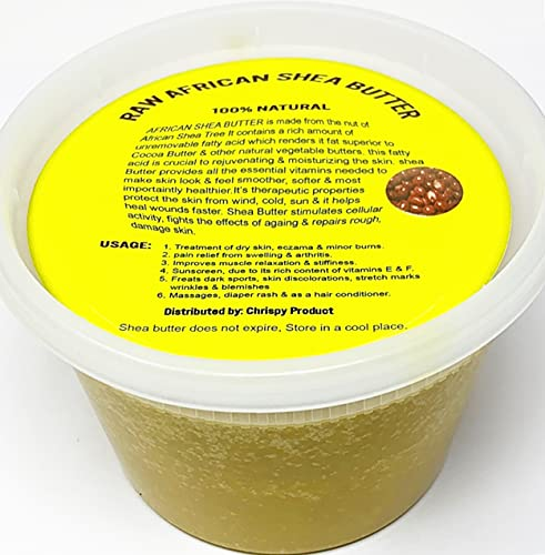 Raw Unrefined African Shea Butter Selections (8 Oz, 16 Oz, 32 Oz)- Grade AAA Premium Shea Butter From Ghana - Use on Acne, Eczema, Stretch Marks (16 OZ GOLD)