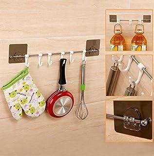 Ustensiles de cuisine Type organisateur mural Salle de bains Accessoires de cuisine Cintre avec crochets Outils de cuisine...