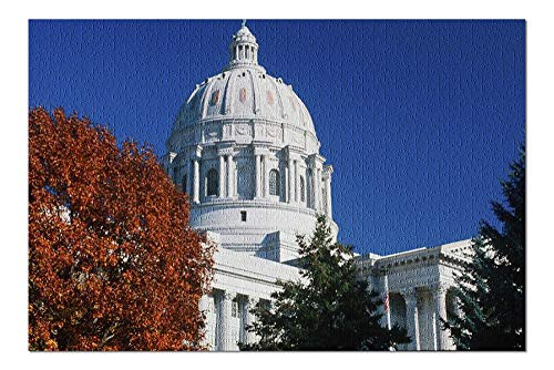 Lantern Press Jefferson City, Missouri - State Capitol Building in The Fall 9029613 (1000 Piece Premium Jigsaw Puzzle for Adults and Family, 19x27)