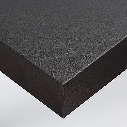 DIMEXACT Papier Peint Autocollant Gris Cendré Mat pour Plan de Travail et Murs Imperméable, de L : 1.22 m x H : 0.5 m, en Rouleau