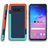 Zectoo Galaxy S10 Lite Cute Case, Hybrid 3 Color One-Piece Ultra Slim Soft TPU Hard PC Bumper Full Body Rugged Shock-Absorption Armor Protective Case Shell for Samsung Galaxy S10 Lite [Blue]