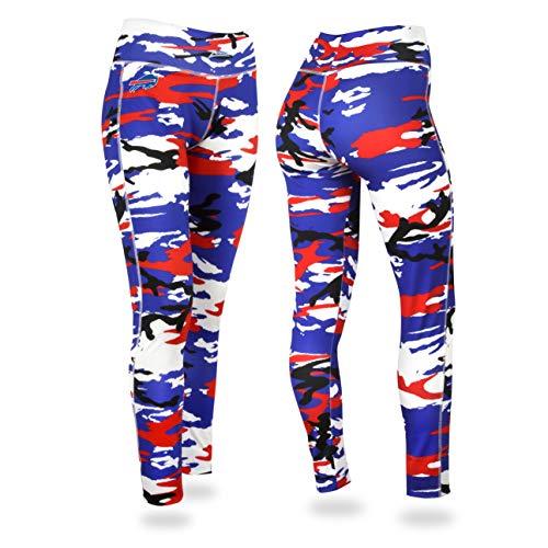 Zubaz Damen Leggings NFL Camouflage, Damen, NFL Buffalo Bills Camo Leggings, Xs, Teamfarbe, X-Small